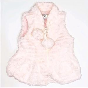 Widgeon 18 Months Baby Pink Faux Fur Zip Up Vest